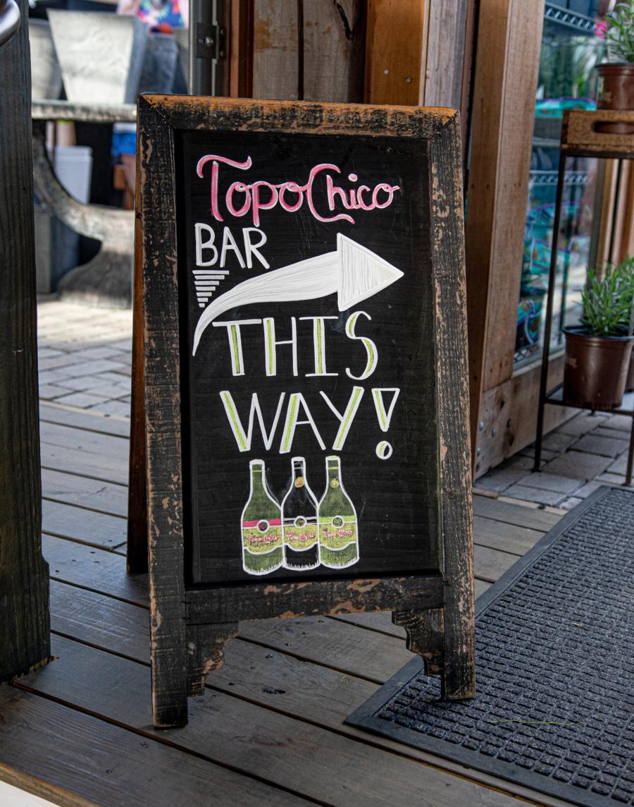 Topo Chico Bar sign