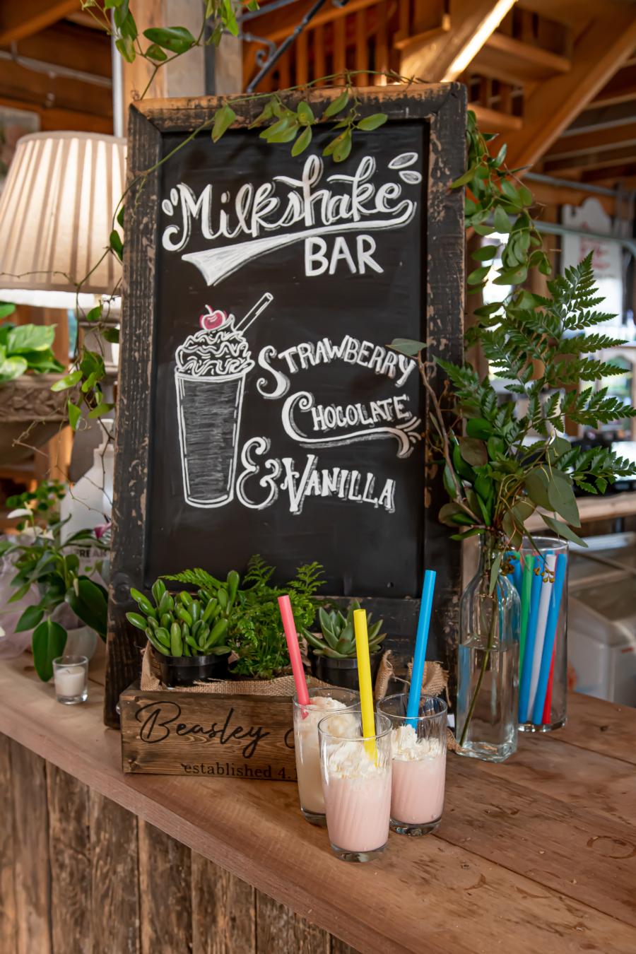 Wedding milkshake bar