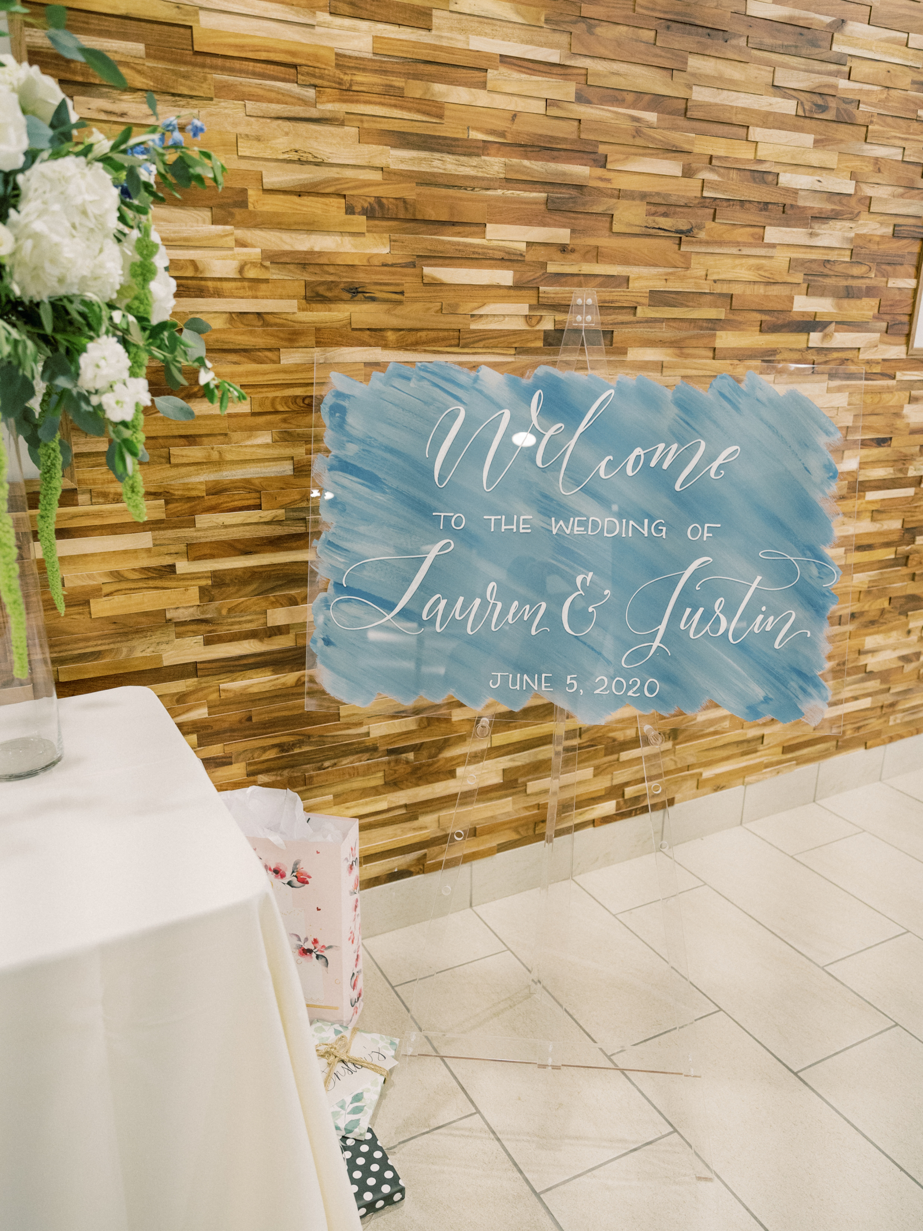 French blue wedding welcome sign