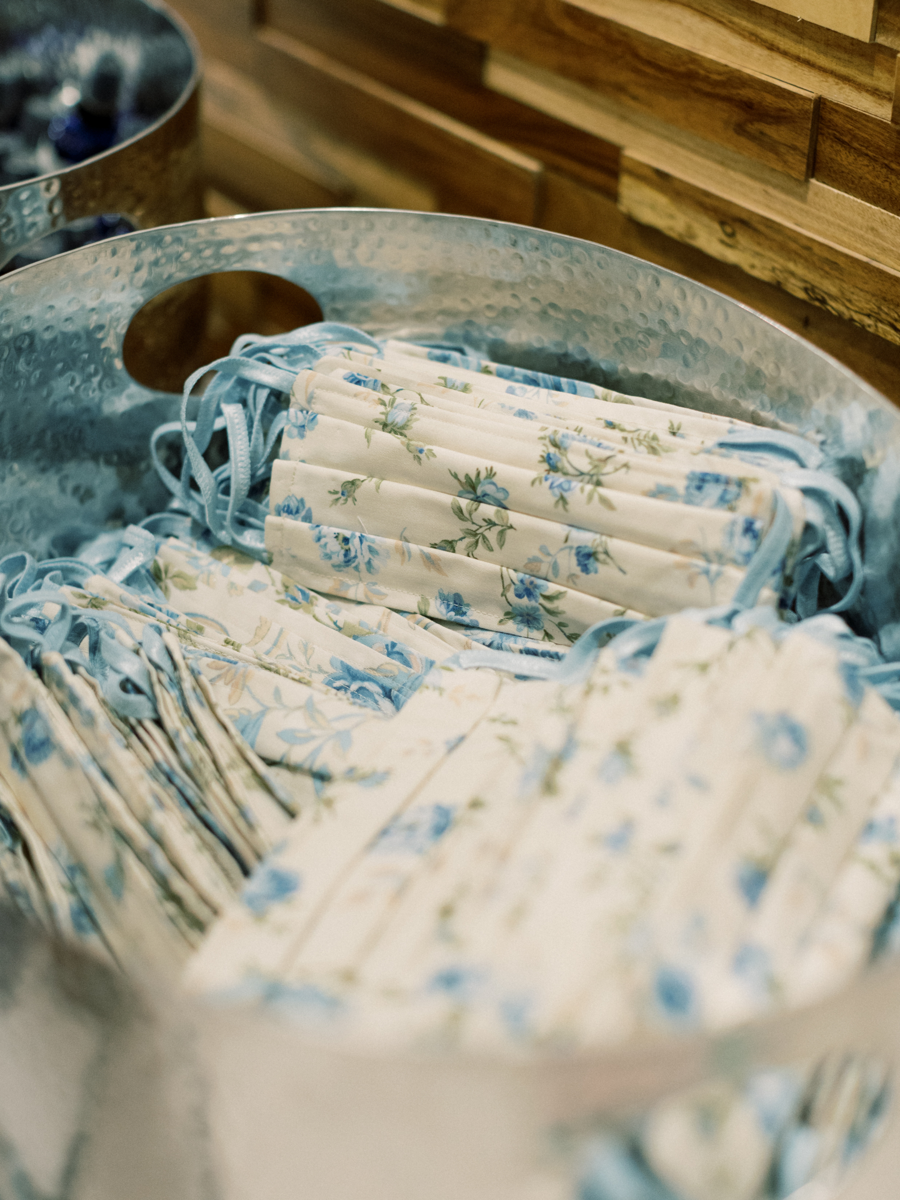 Blue floral masks