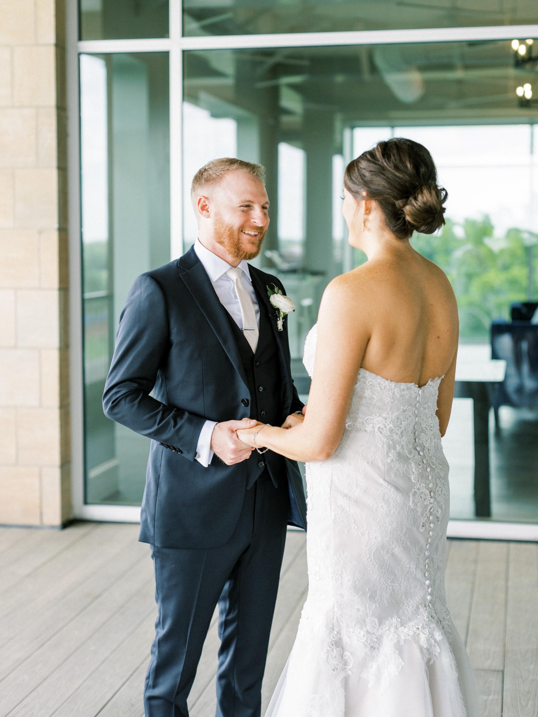 Jordan and Alaina wedding photography first look
