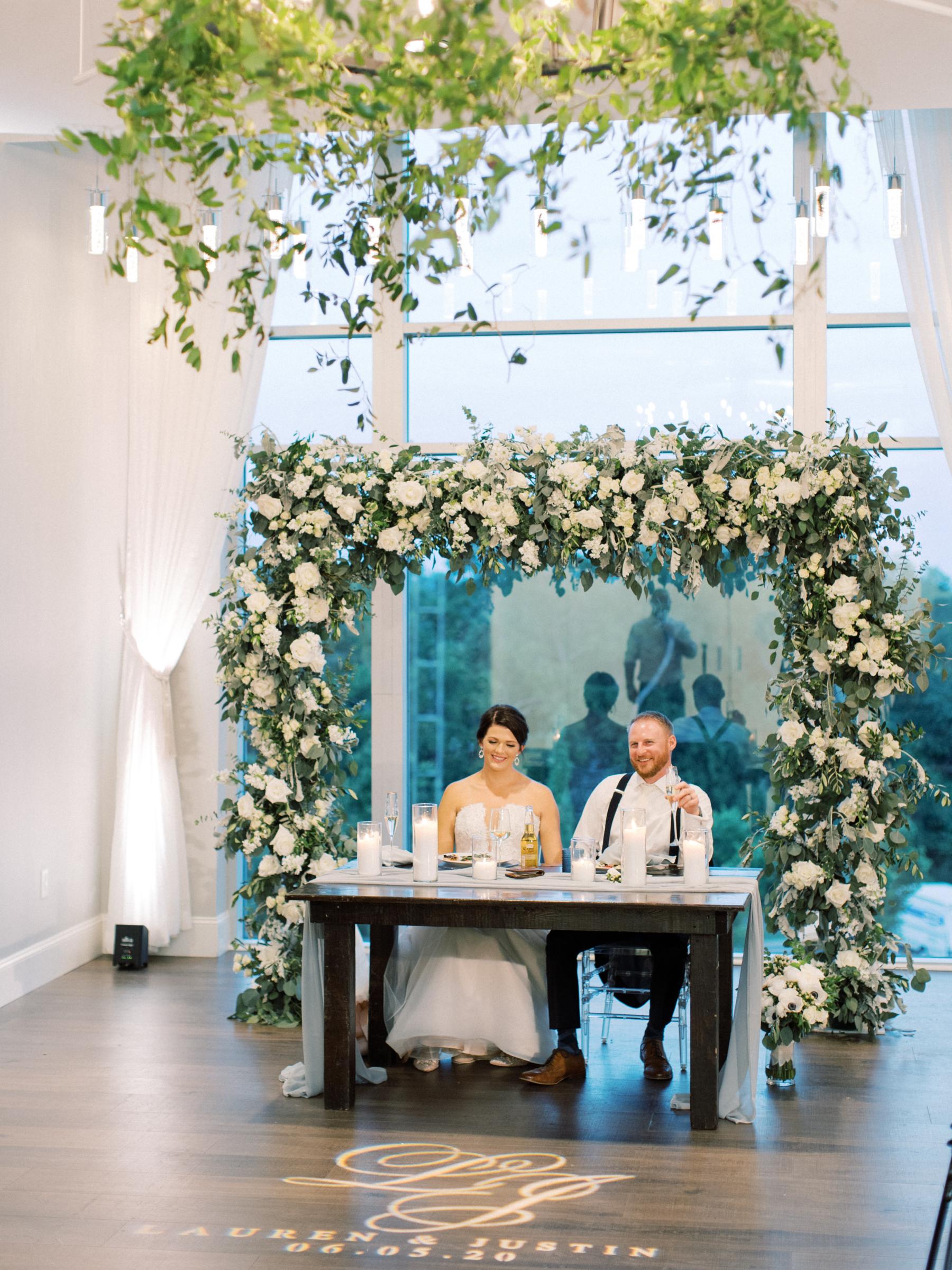 Amy & I Designs wedding floral arch