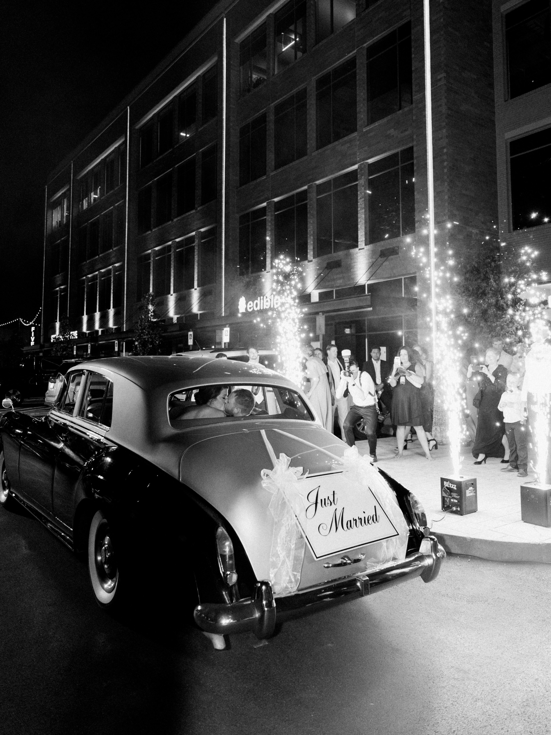 Rolls Royce wedding getaway car