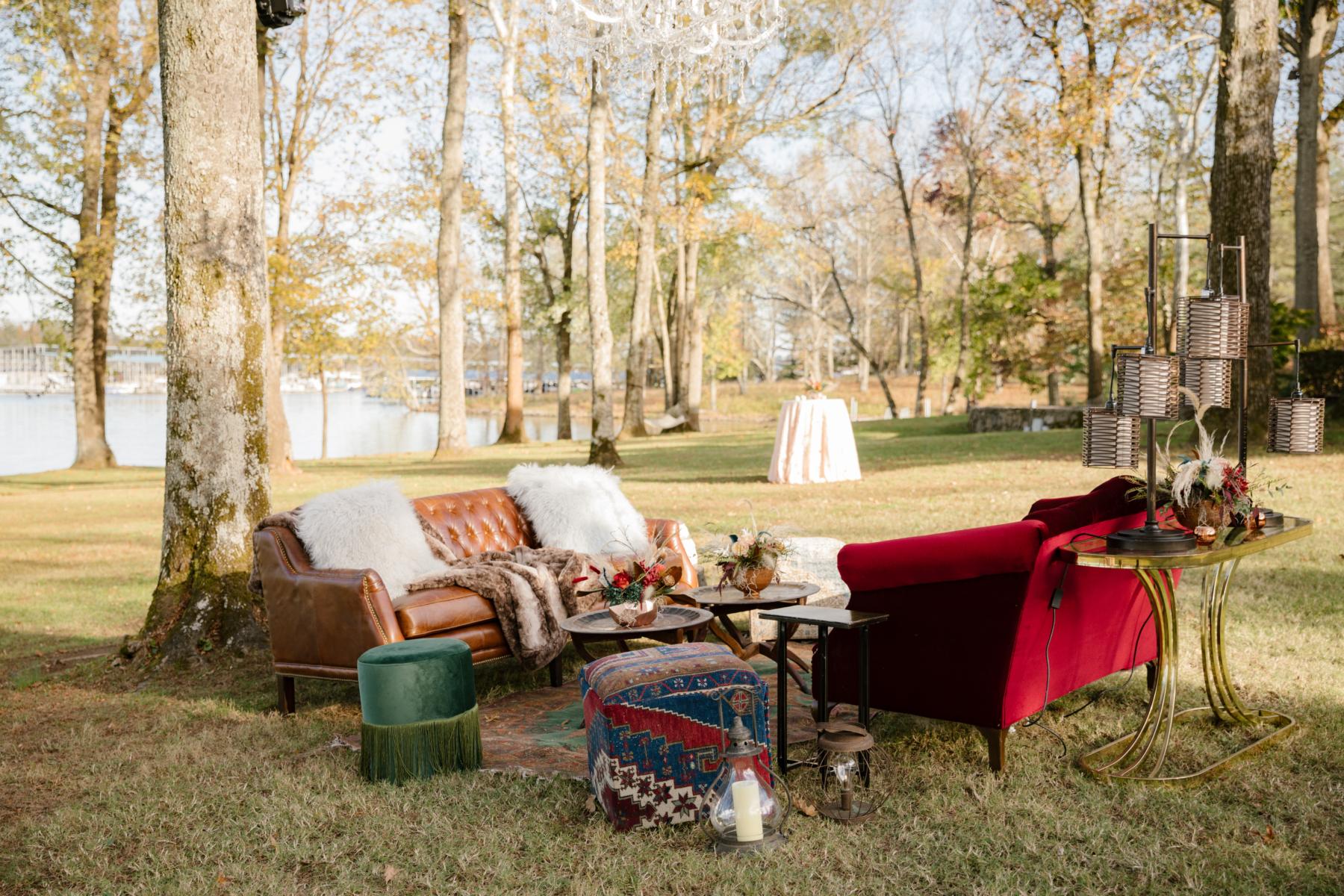 Outdoor wedding lounge inspiration