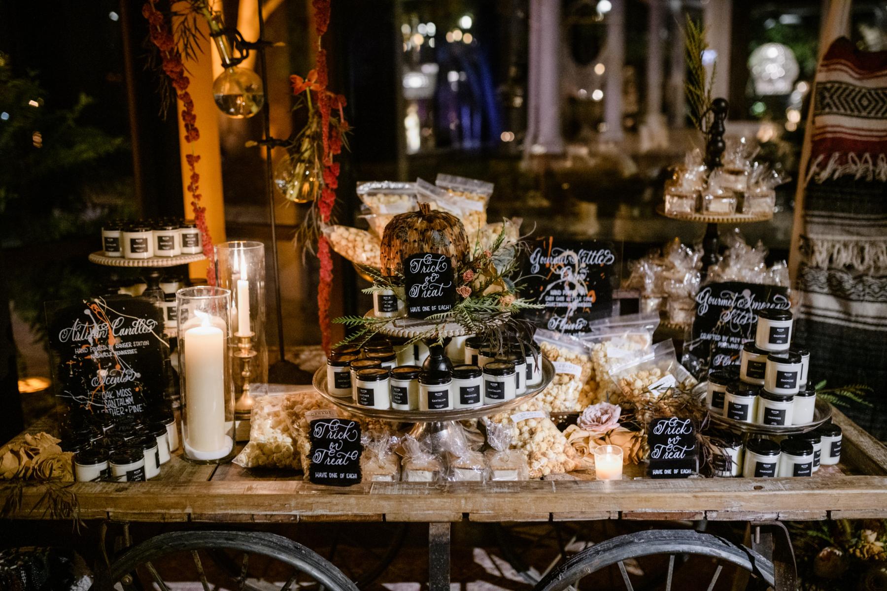 Halloween wedding at The Estate at Cherokee Dock