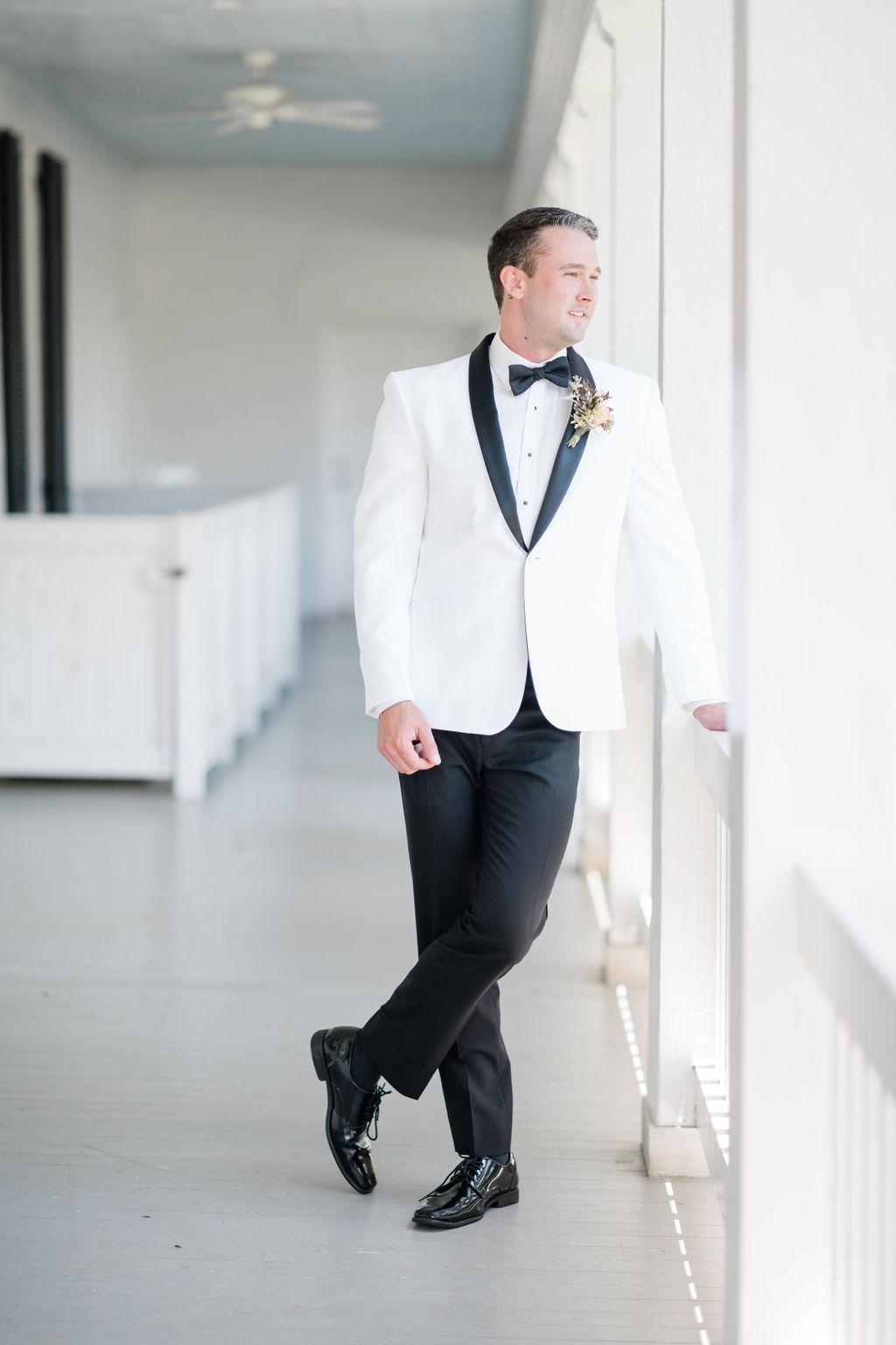 White wedding tuxedo jacket