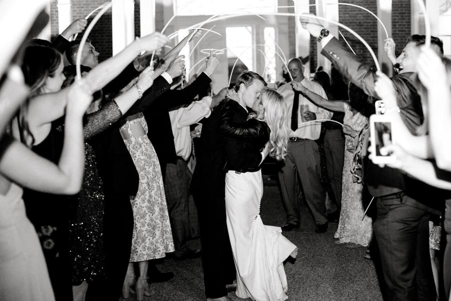 Grand wedding exit at Ravenswood Mansion