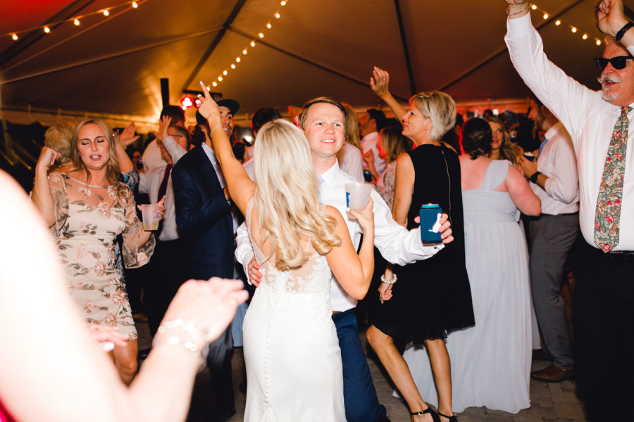 Bride and groom dancing at Ravenswood Mansion wedding