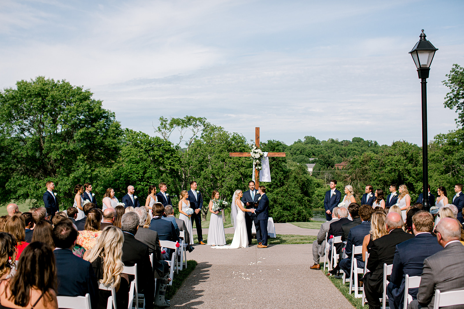 Outdoor wedding ceremony at Ravenswood Mansion