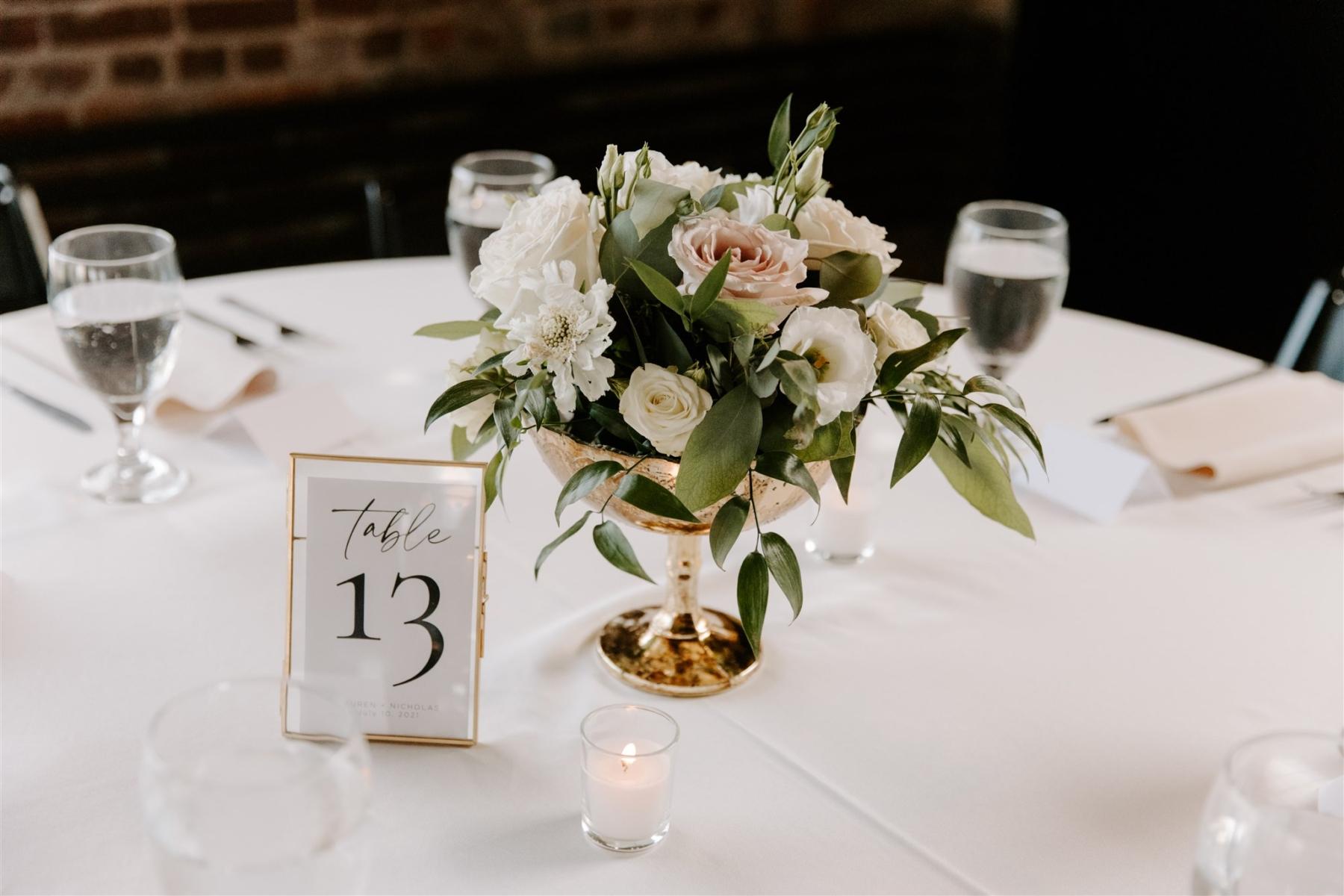Low wedding flower centerpieces