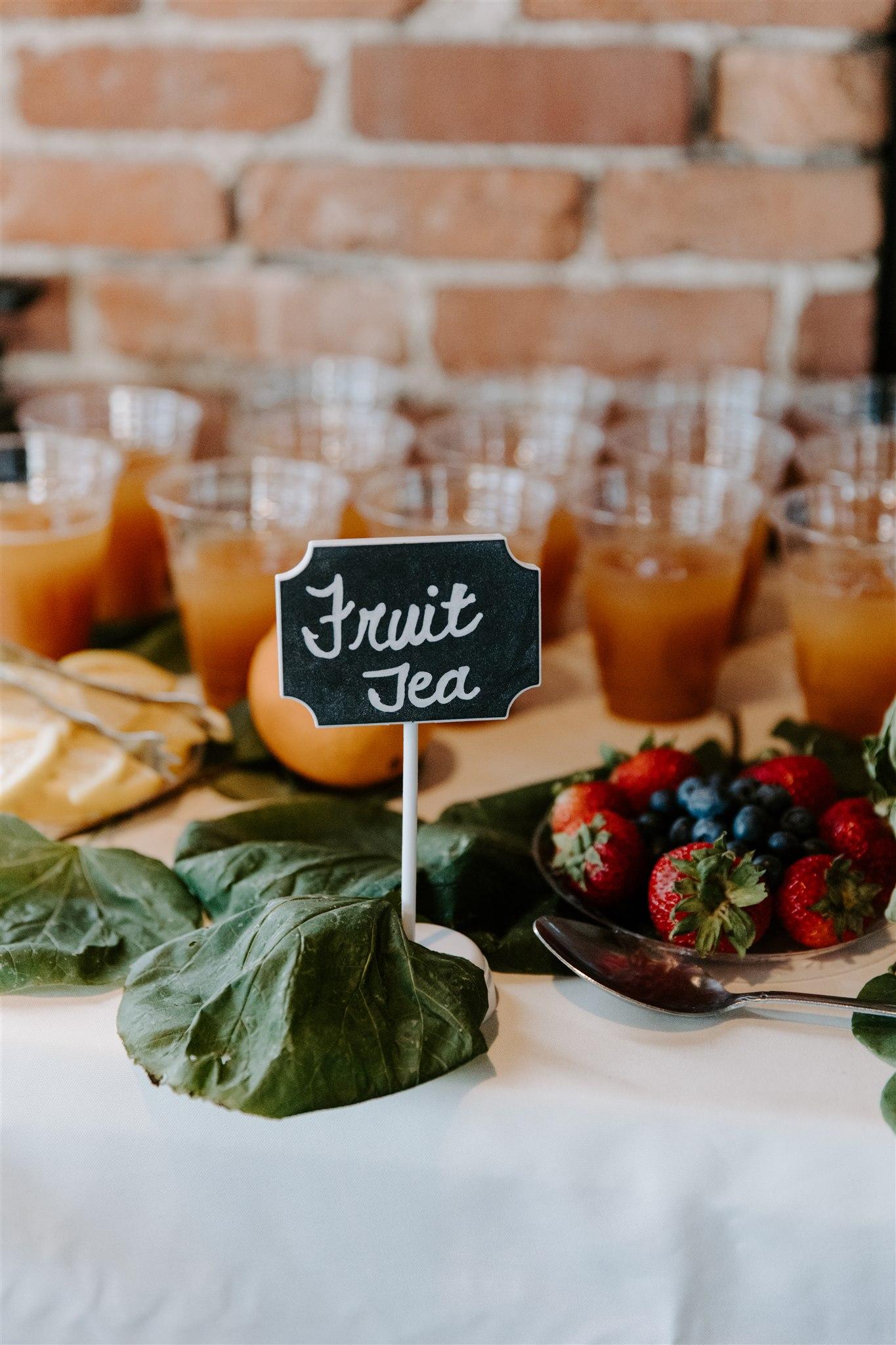 Wedding food display