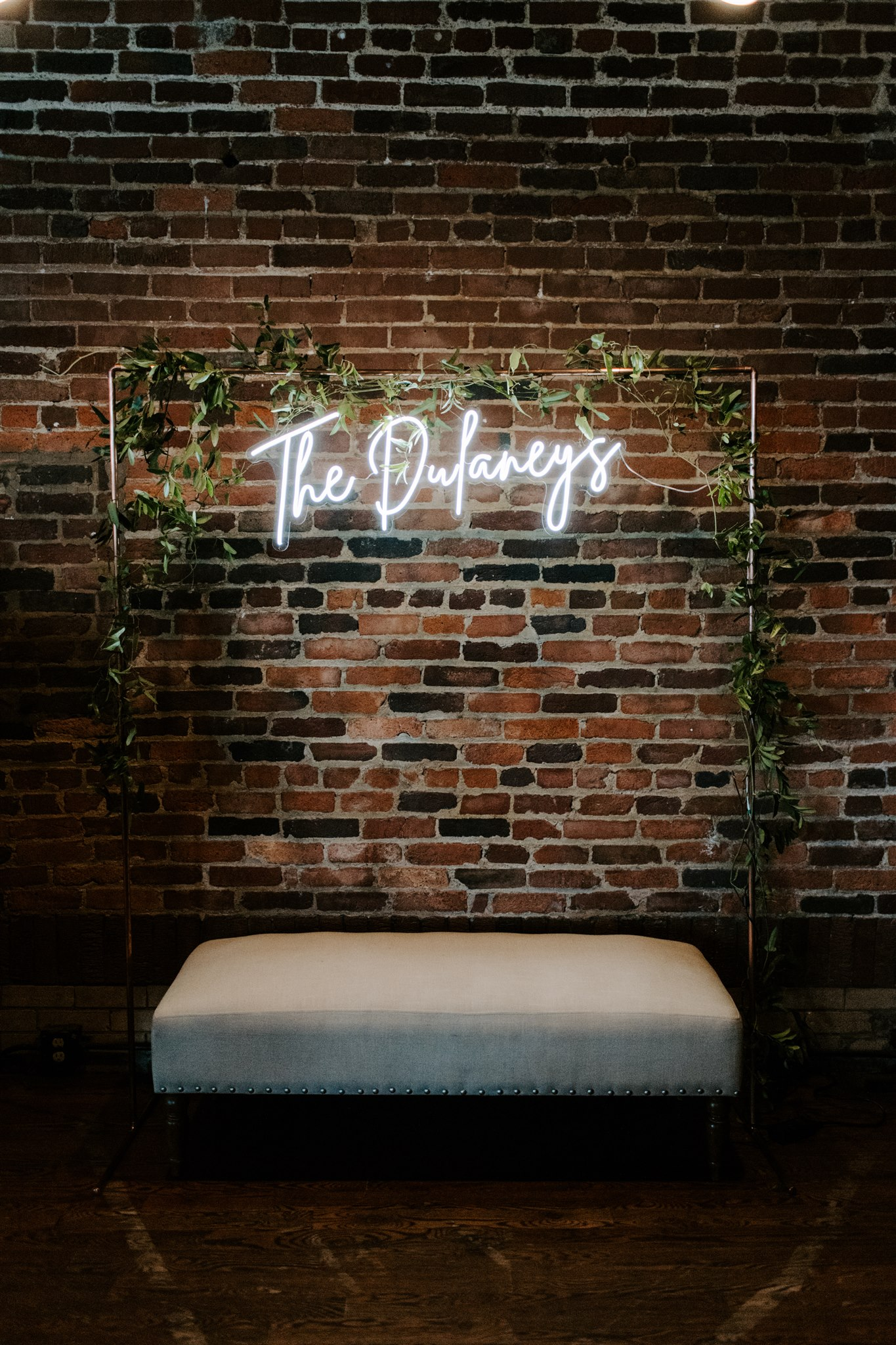 Neon wedding sign for photo booth