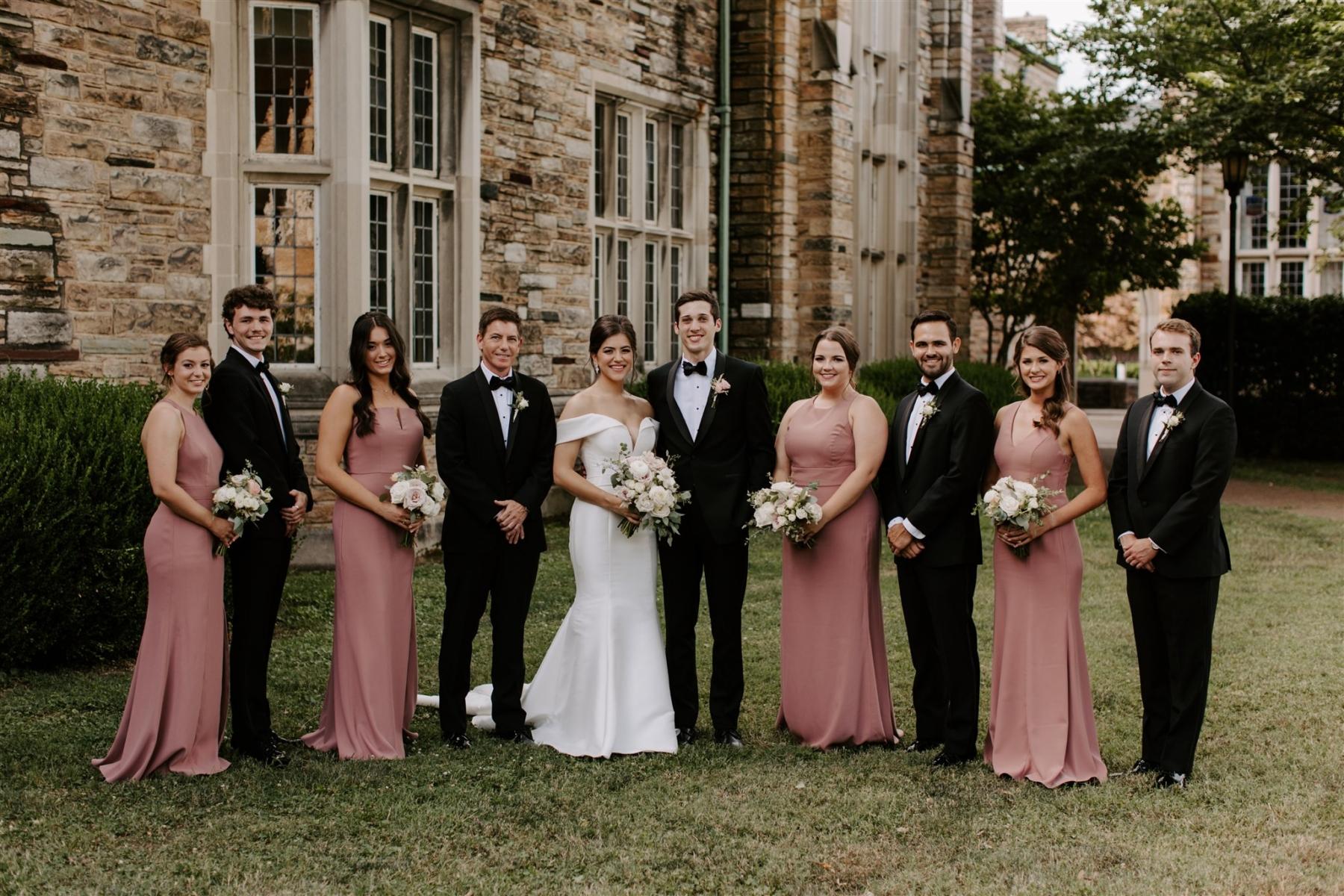Wedding party photography by Caitlin Steva