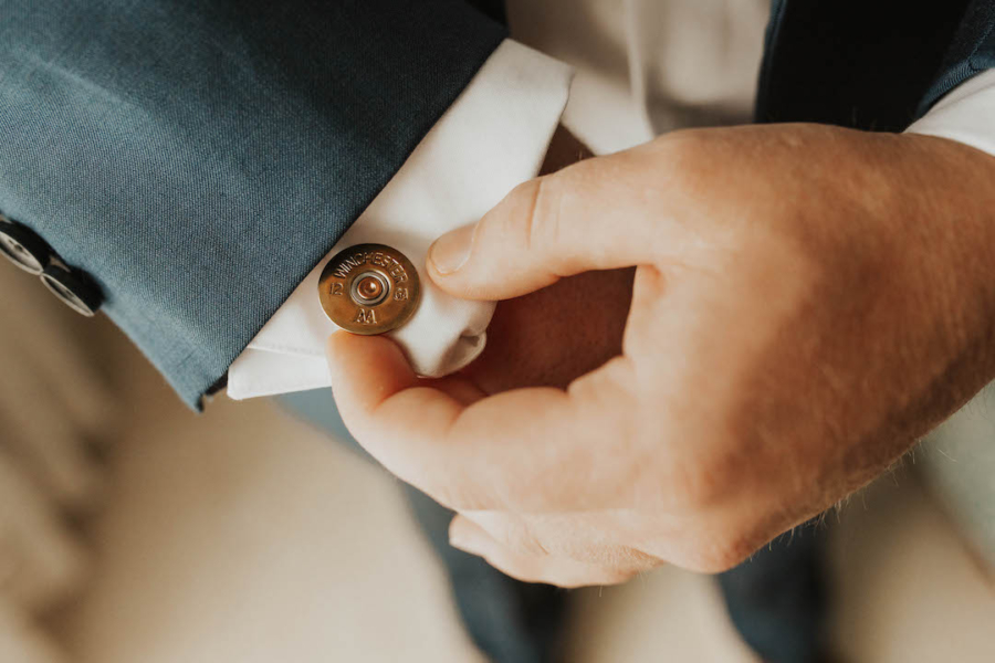 Groom's wedding cufflinks