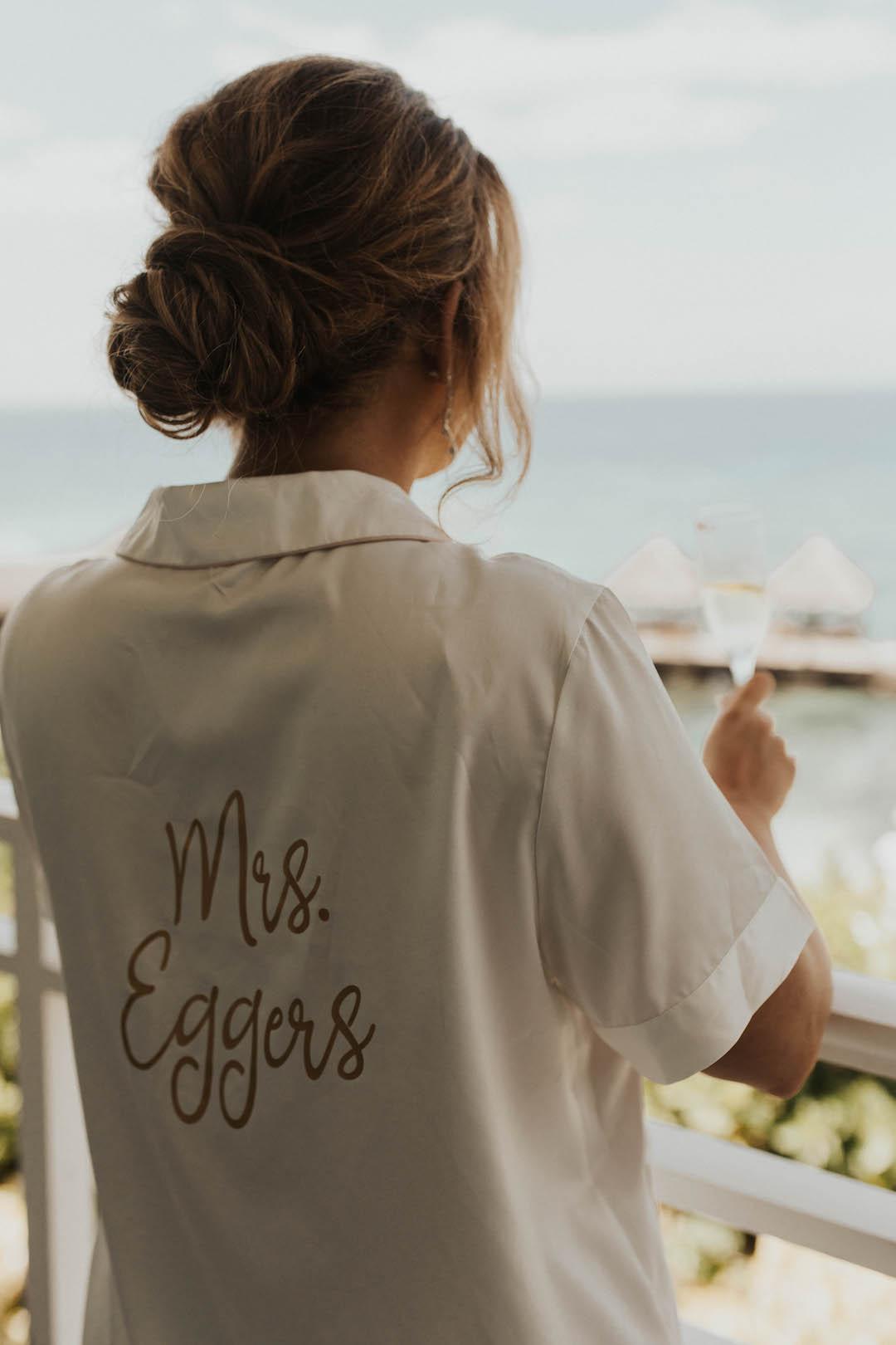 Personalized bridal pajamas