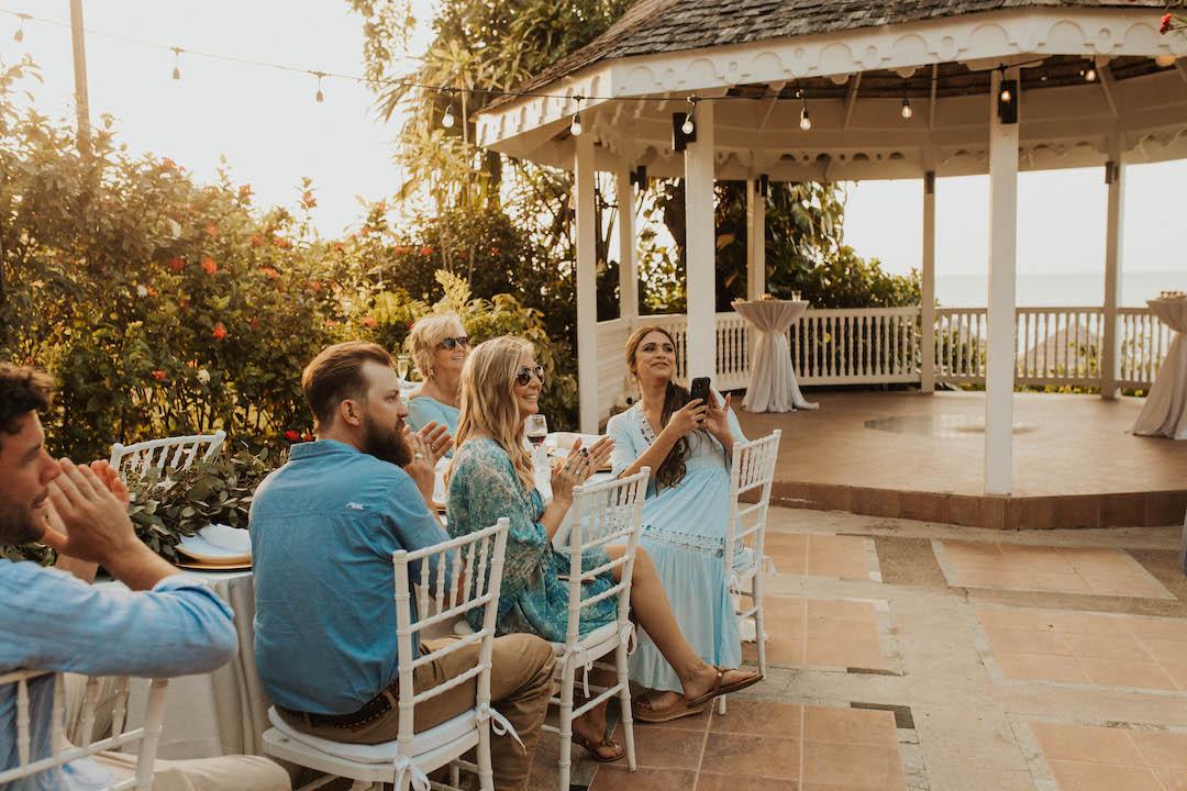 Outdoor wedding elopement