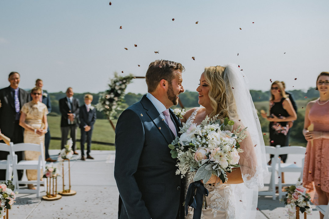 Rustic wedding at Beau Chavel outdoor ceremony