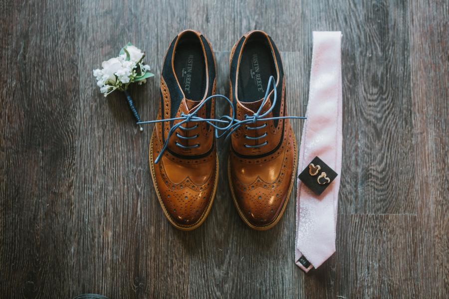Groom's rustic wedding attire