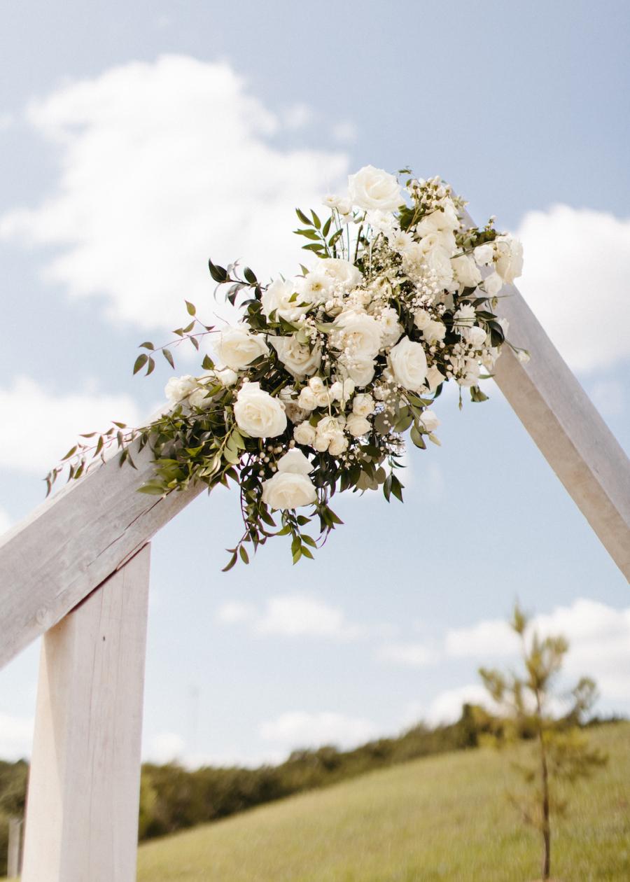 Wedding ceremony arch decor