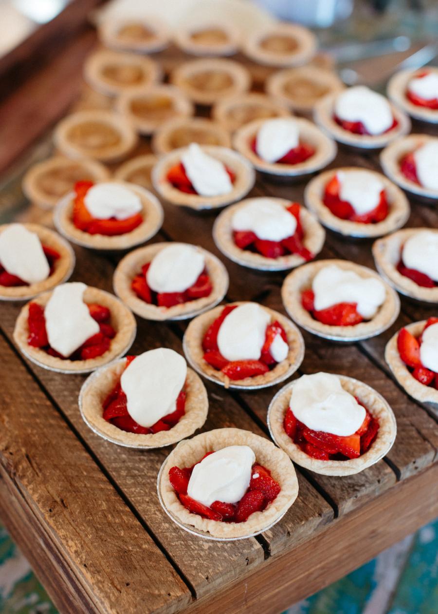 Single serve wedding pies