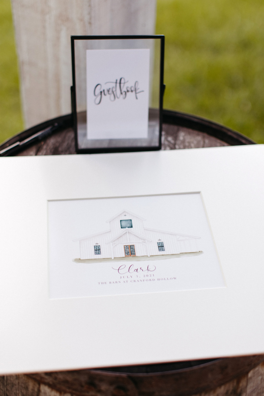 Wedding guest book design