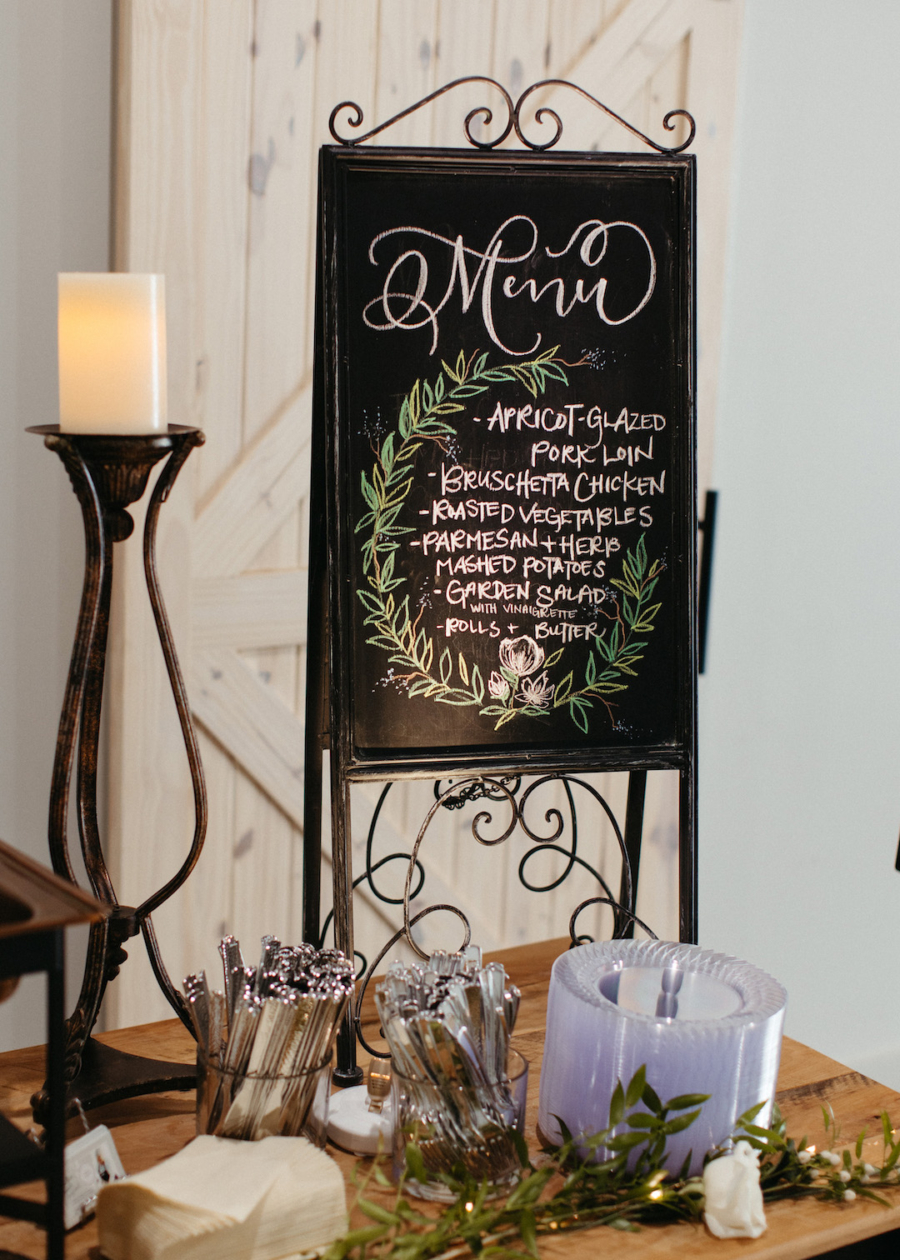 Wedding food menu