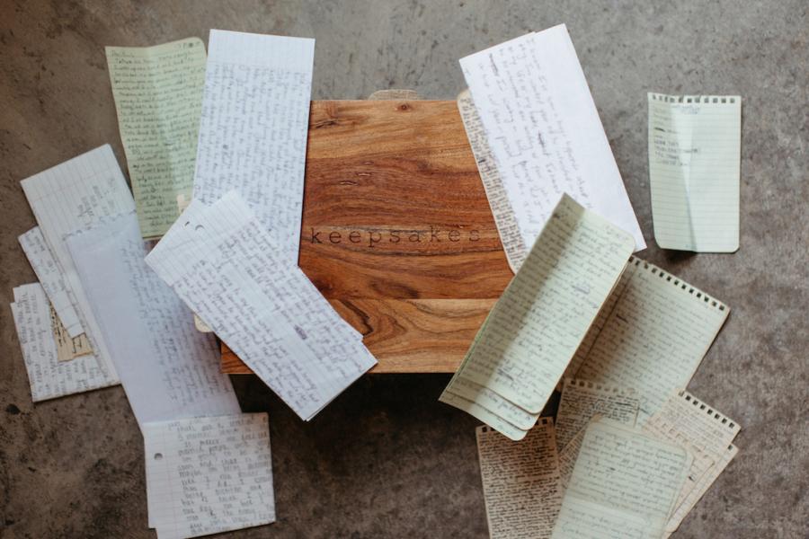 Wedding letter keepsake box